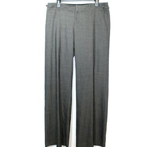 Gap gray herringbone the trouser wool slacks long